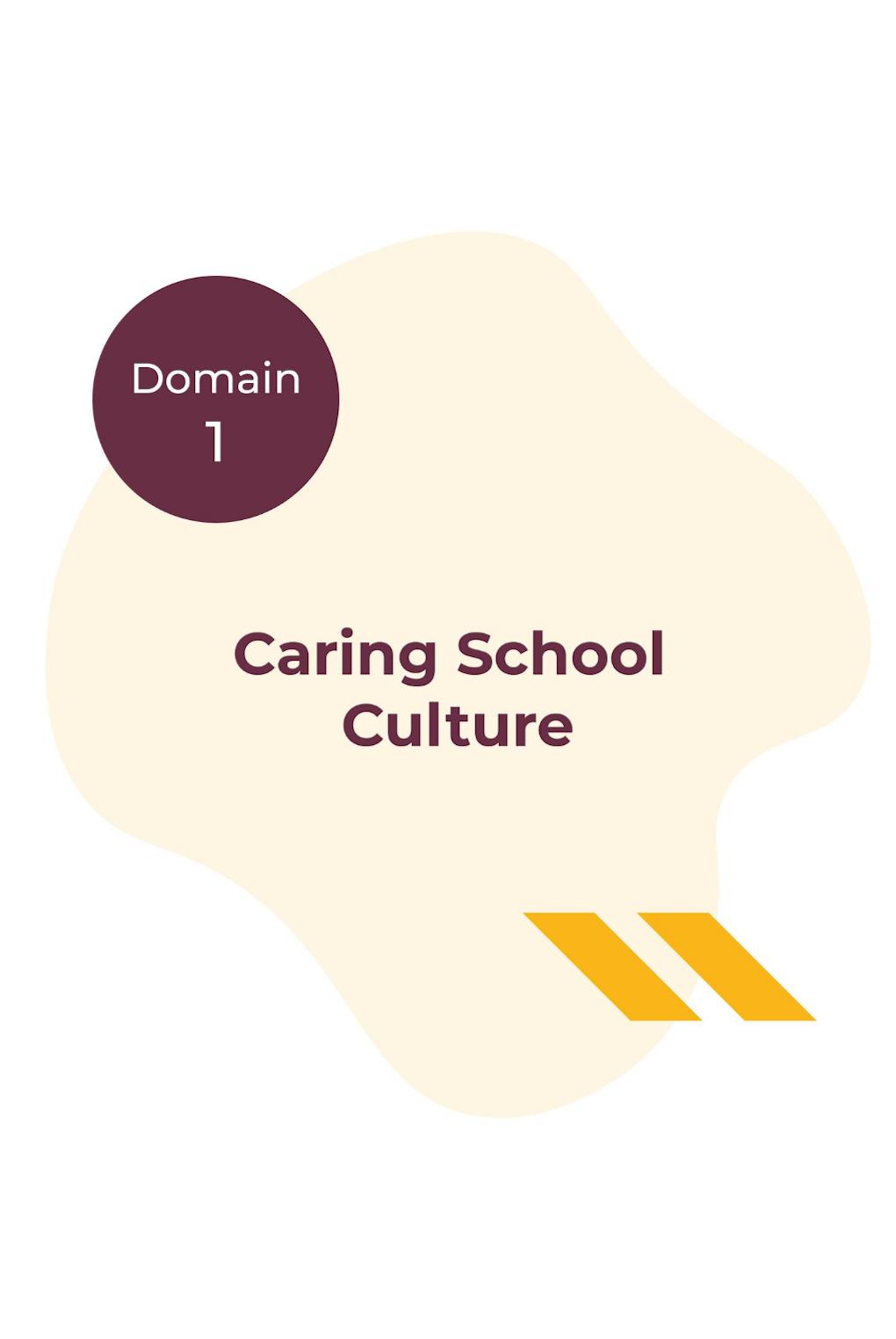 Domain 1 - Caring School Culture