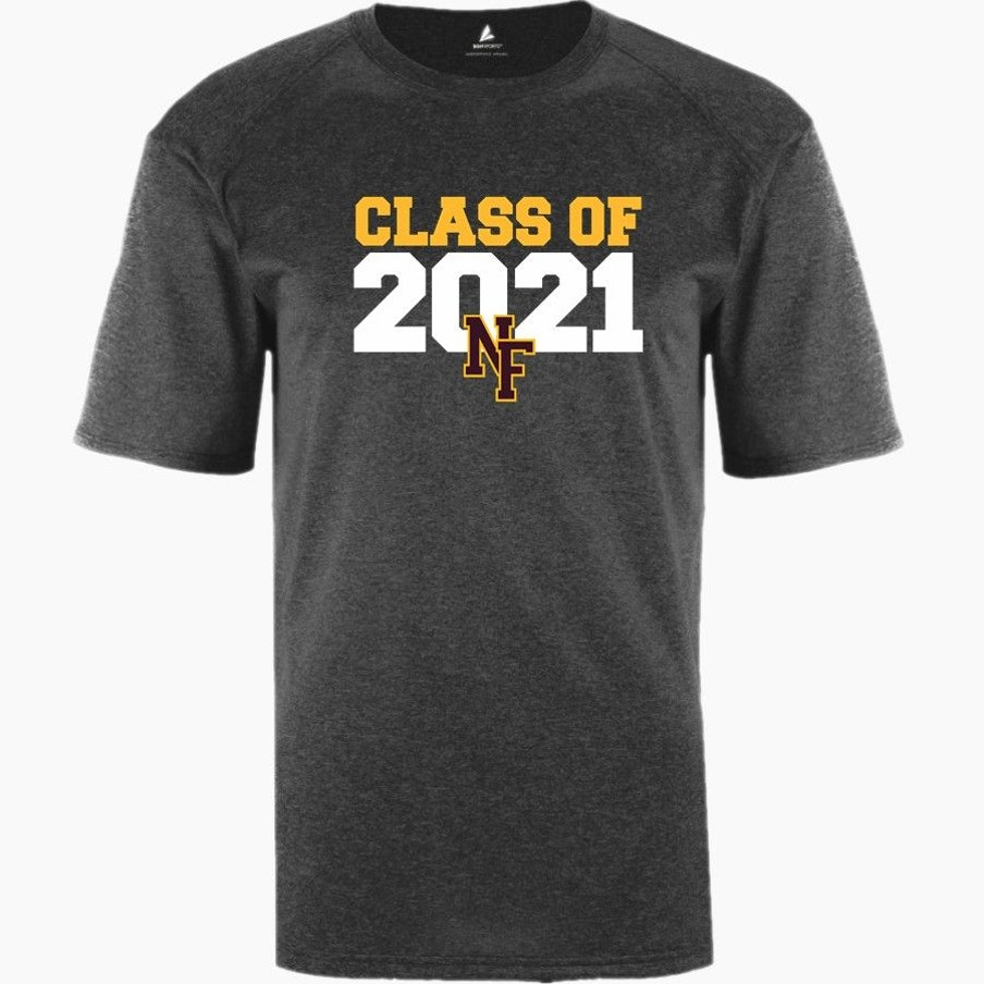 Grey class shirt that says Class of 2021