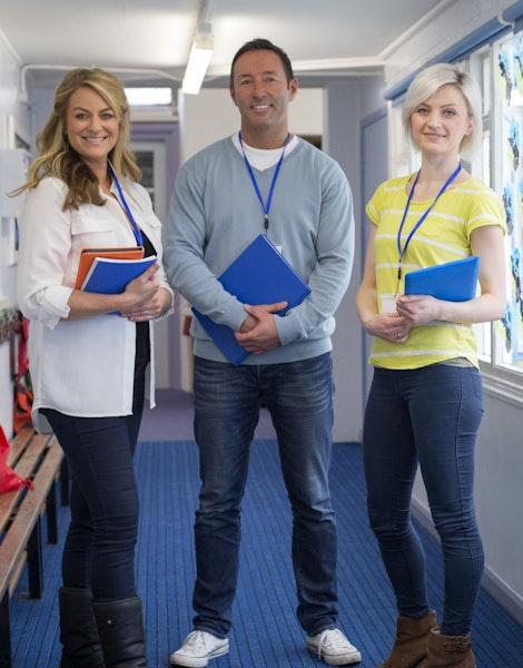 Three teachers - one male and two female