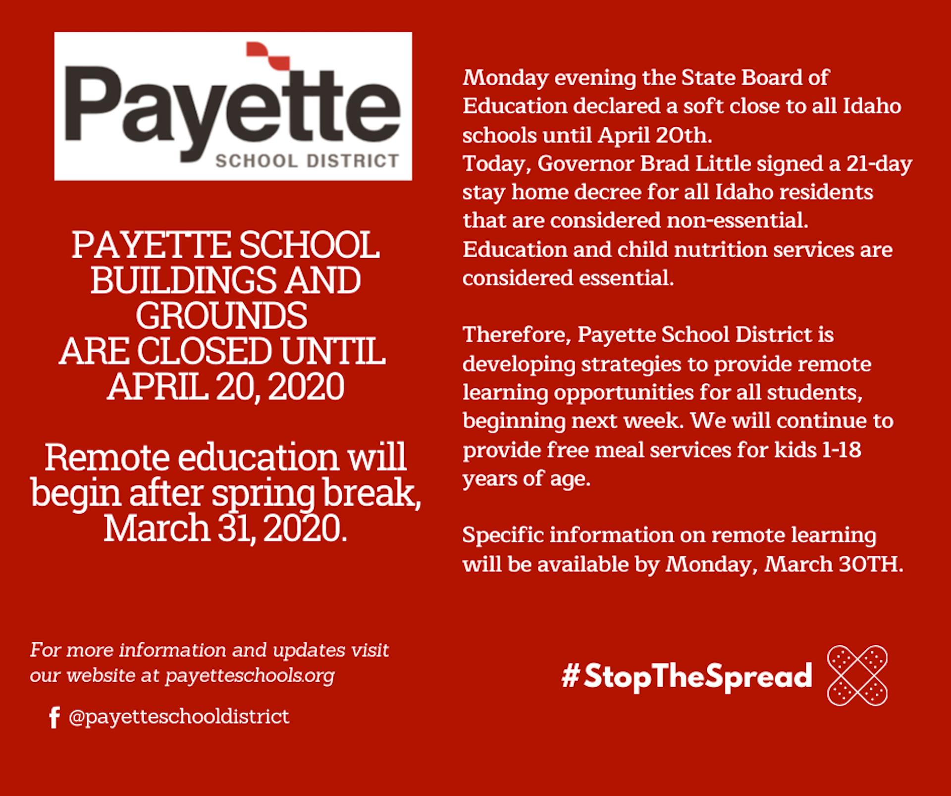 Payette School District Update Information