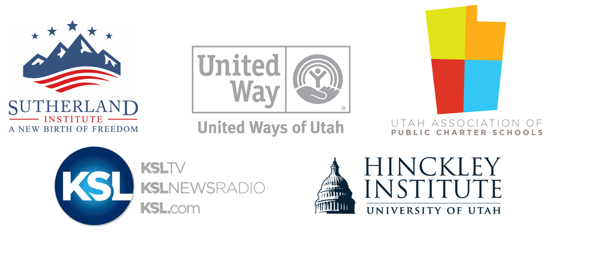 Debate Coalition members: Sutherland Institute, United Ways of Utah, UAPCS, KSL, Hinckley Institute