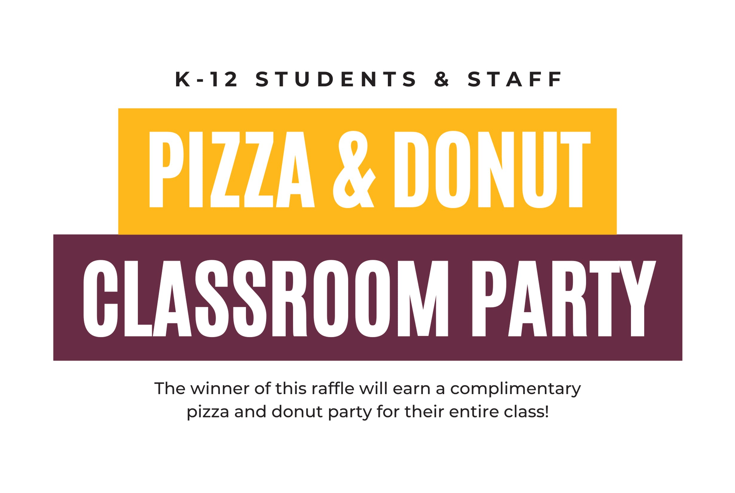 Pizza and Donut Classroom Party Prize