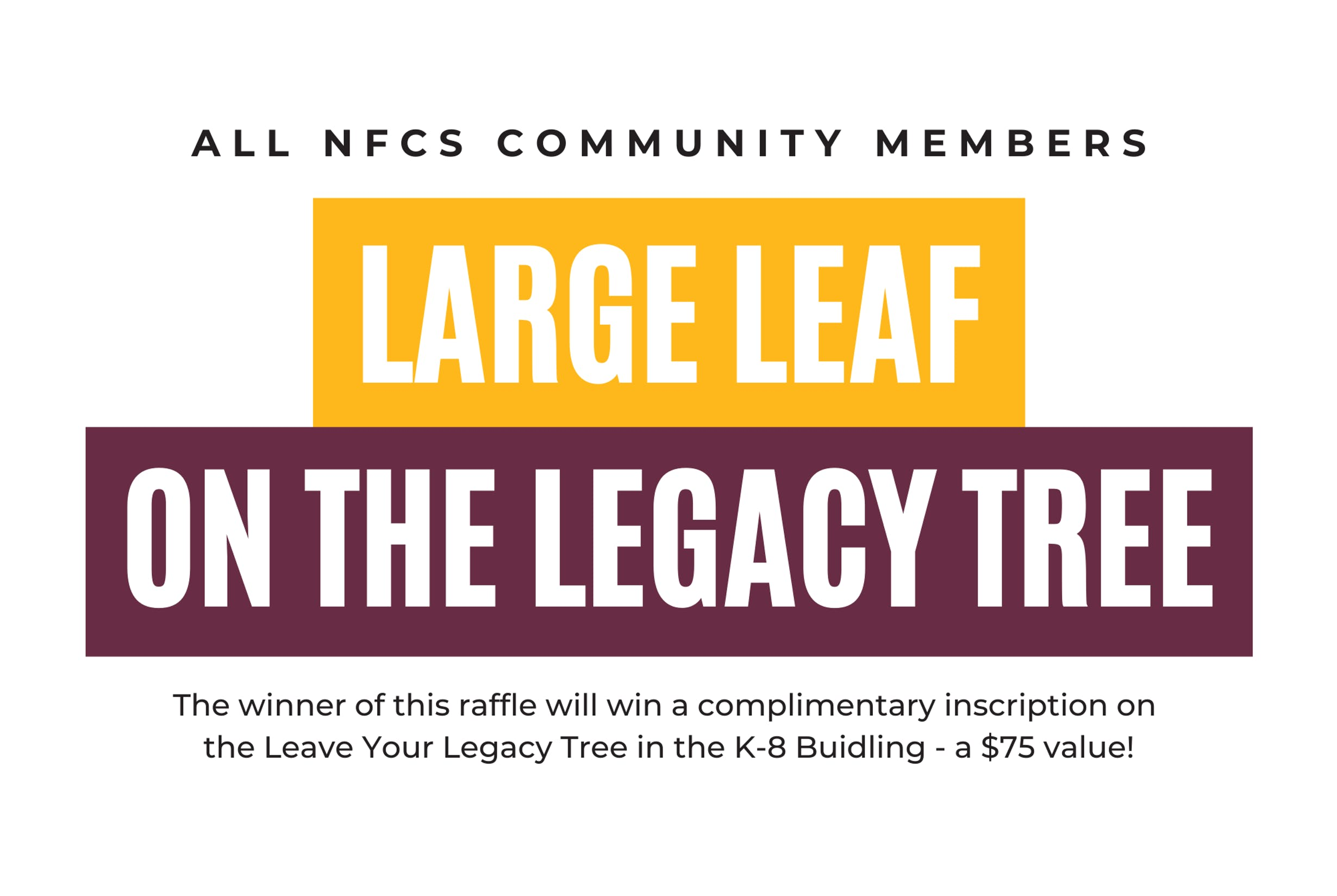 Large Leaf on the Legacy Tree Prize