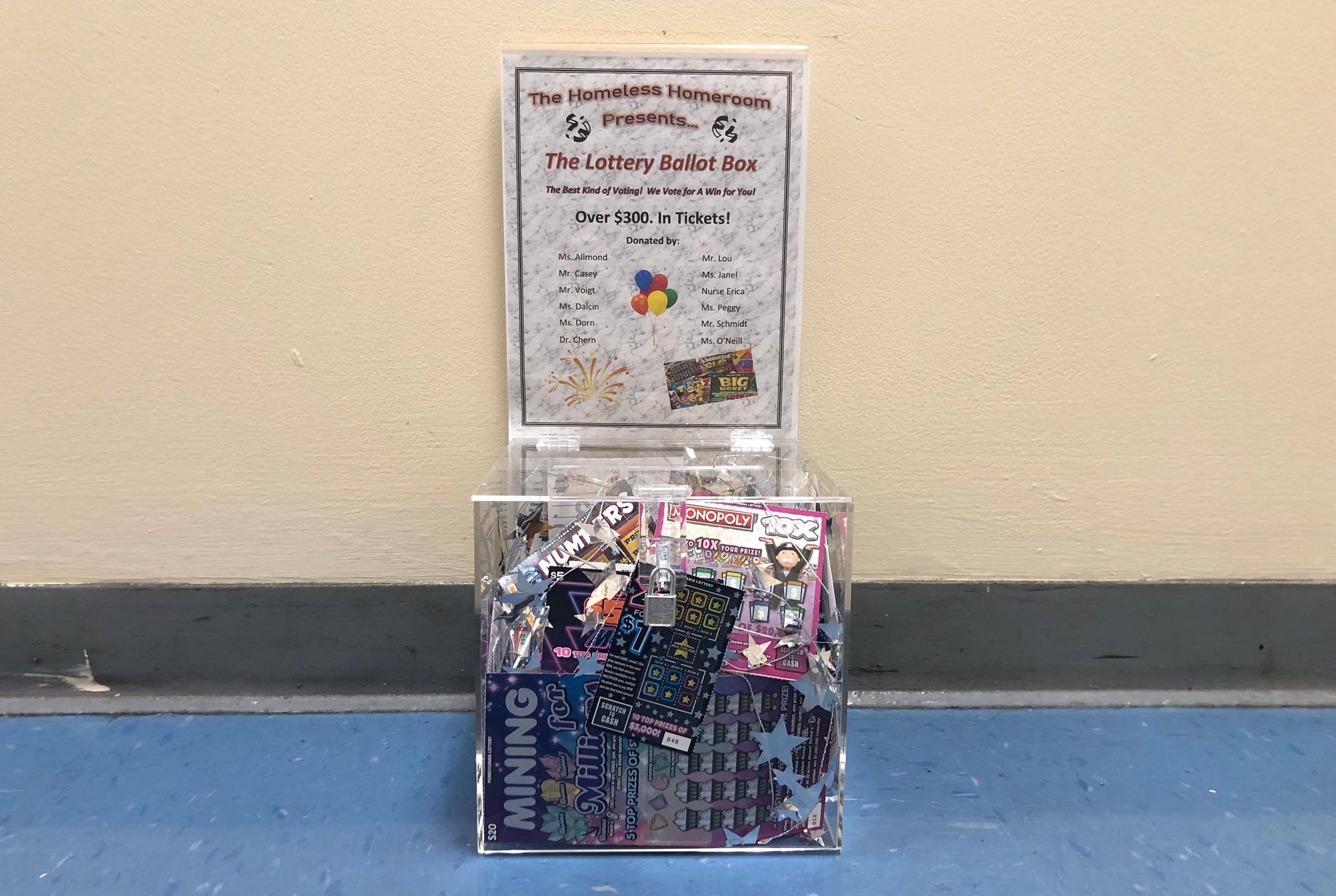 Lottery Ballot Box Prize