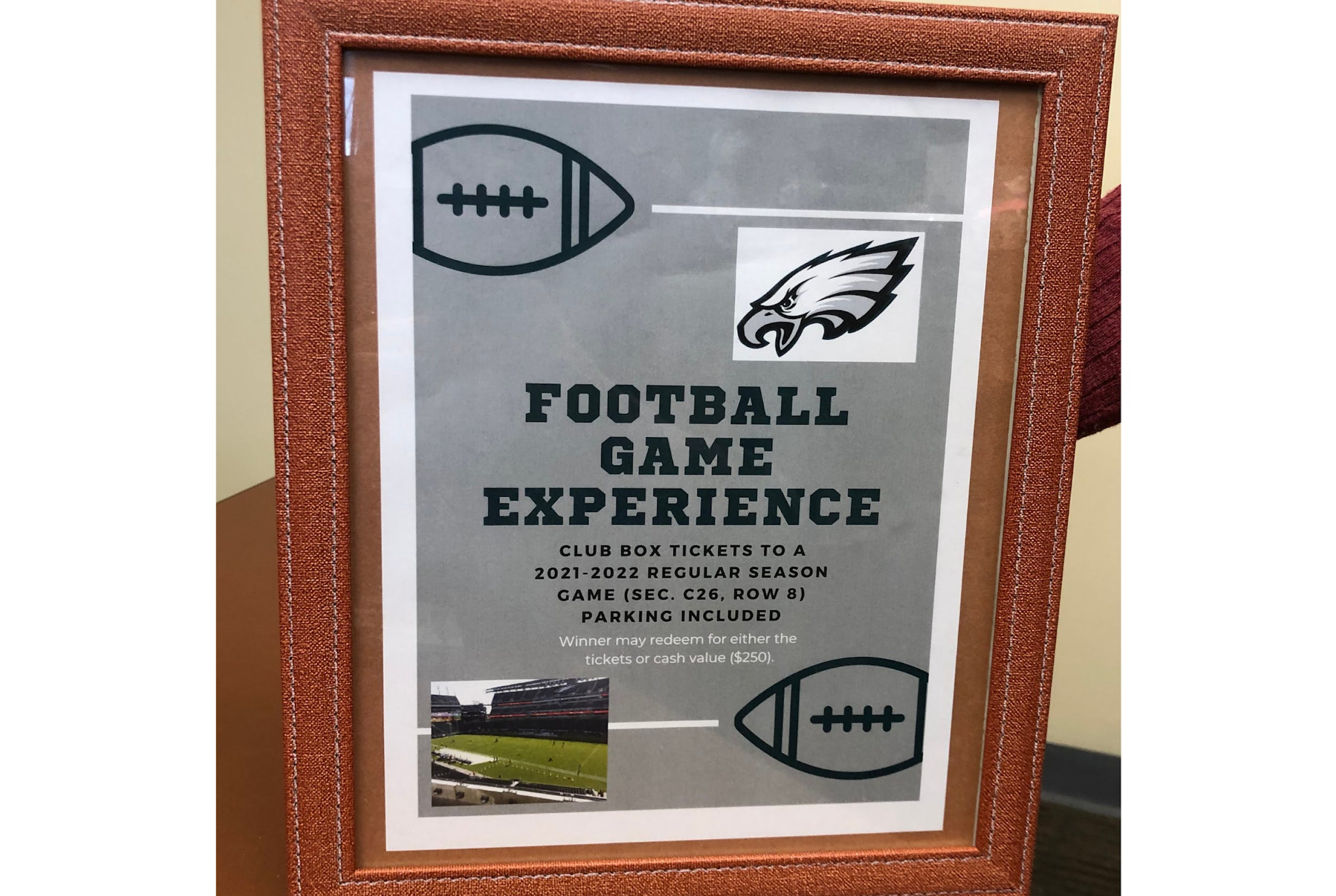 Eagles Football Game Experience Prize