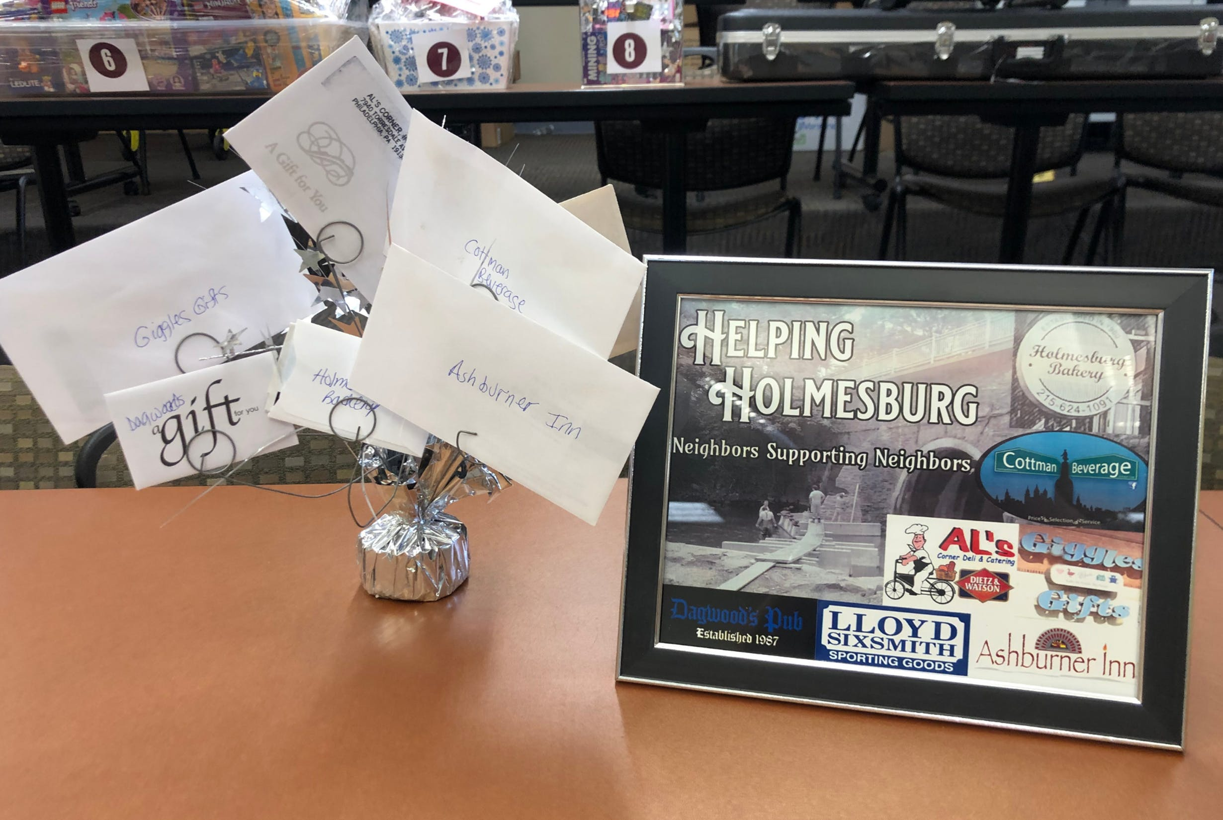 Helping Holmesburg Gift Cards Prize