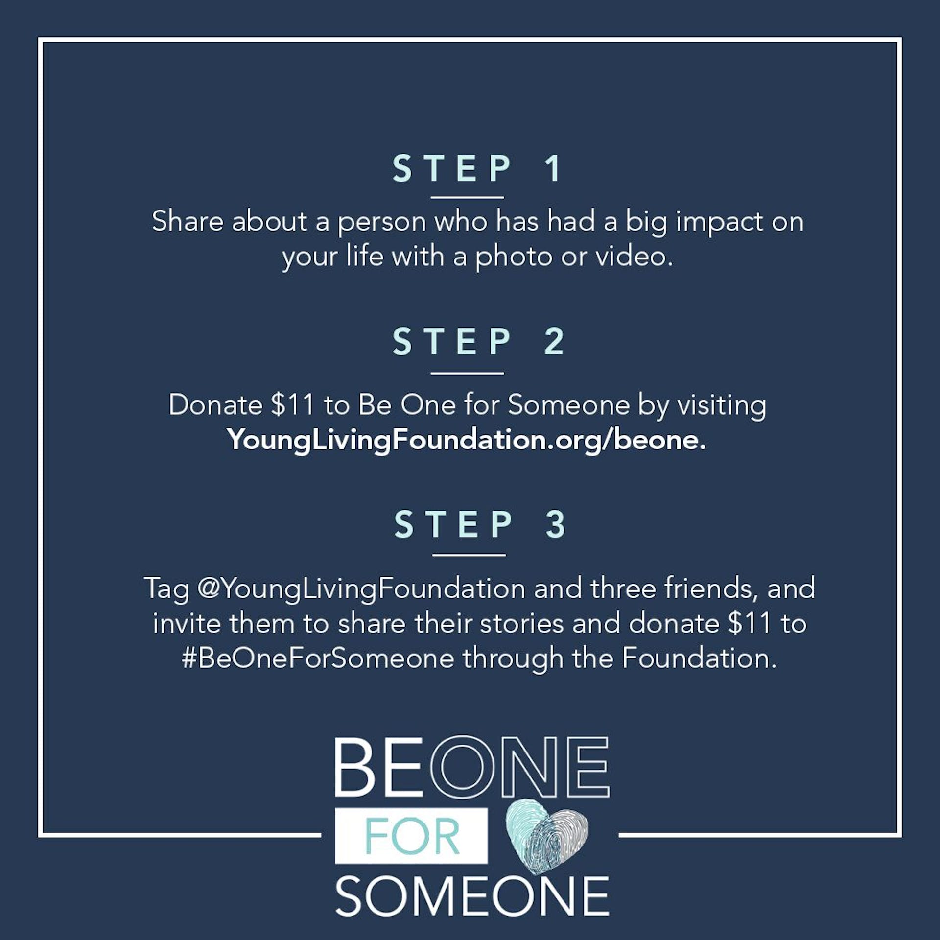Be One for Someone social sharing tips